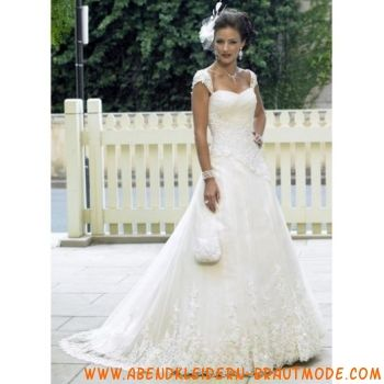 A-line/Prinzessin Square Chapel Train Lace brautkleid A-Linie ...