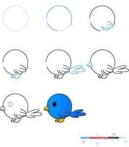 Tekenen In Stappen Google Zoeken Vogels Tekenen Dieren