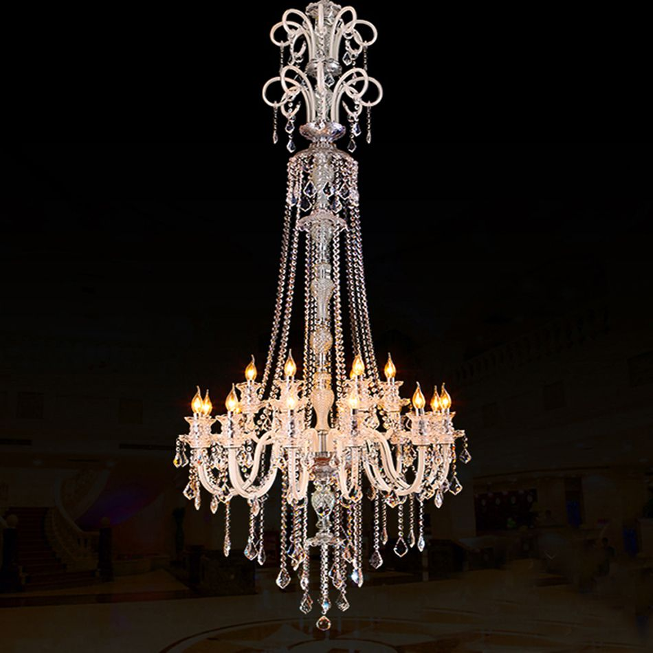 Large modern chandelier effects of real candles in a crystal large modern chandelier effects of real candles in a crystal chandelier chandelier arubaitofo Image collections
