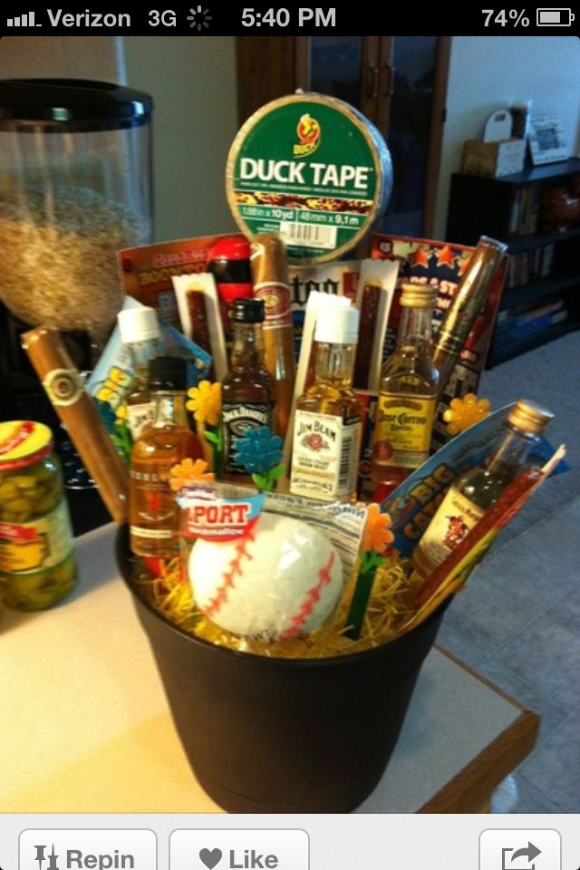 Valentines Gift Idea Relay For Life Ideas Man Bouquet Gifts