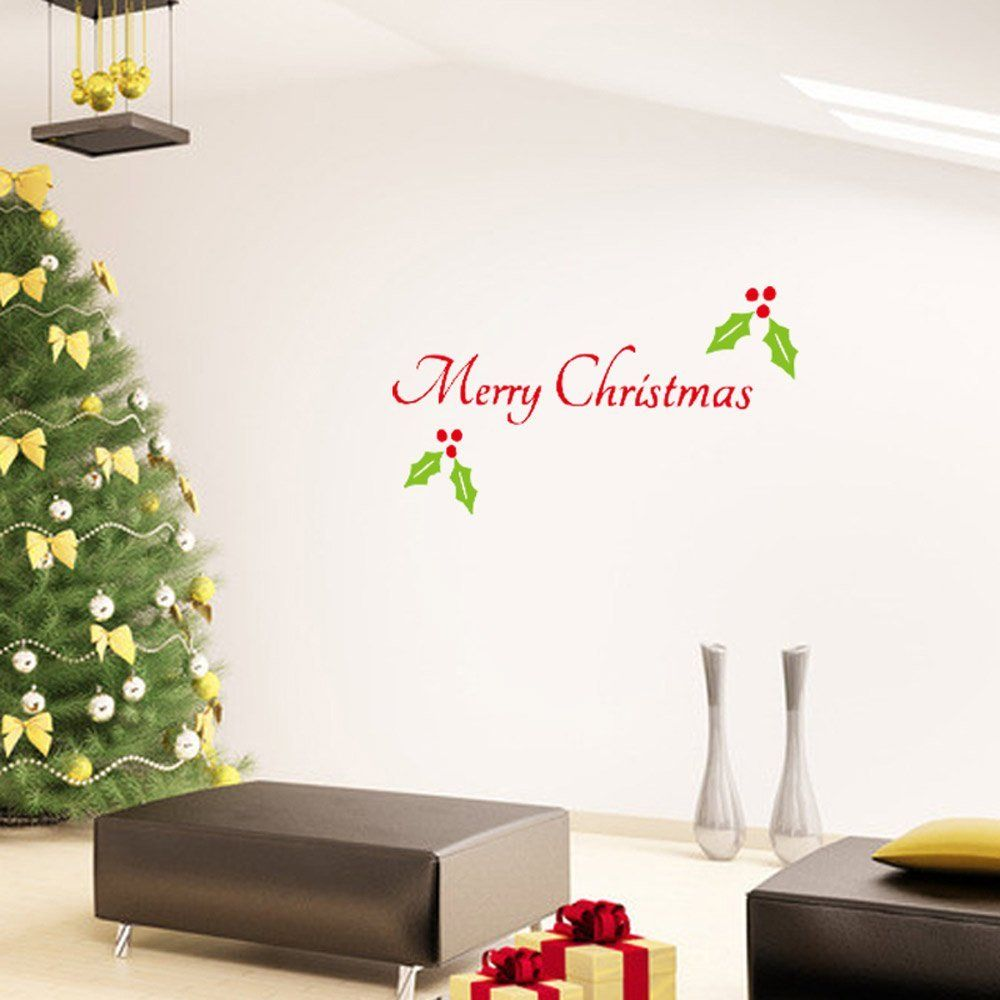 Anself Christmas Wall Stickers Window Art Decals 33 64cm Amazon Co Uk Kitchen Home Christmas Wall Stickers Removable Window Stickers Wall Stickers Window