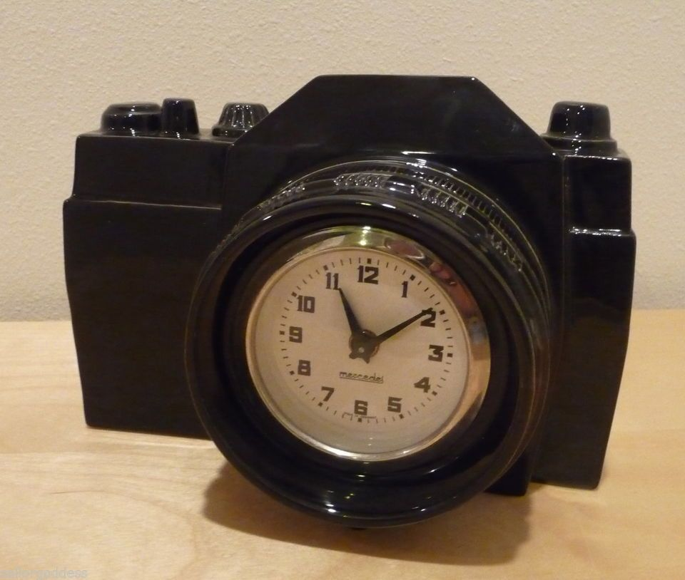 Collectable Mercedes Desk Clock Camera 35mm Rare and Unique Modern Germany