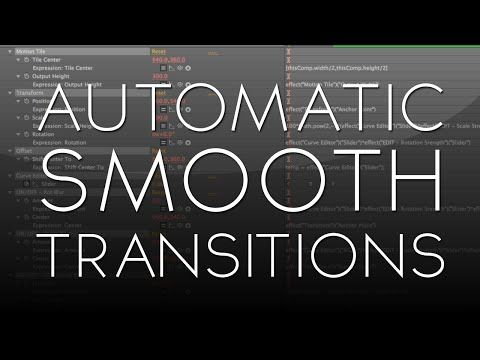 After Effects Tutorial Automatic Smooth Transitions Free Plugin Preset After Effect Tutorial Free Plugins Tutorial
