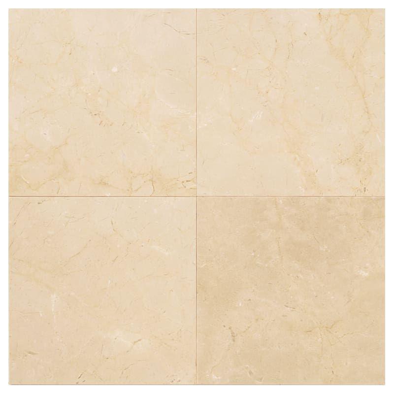 "Daltile M721-1818121L-SAMPLE 18"" X 18"" X 1/2"" Crema Marfil Polished Stone Multi- Crema Marfil Elegance Tile Sample"