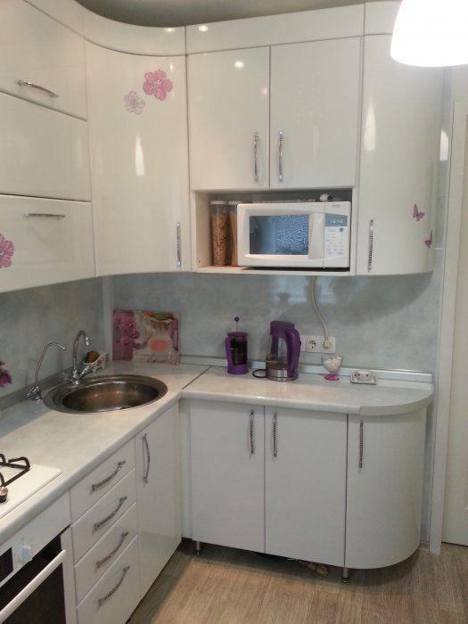 кухни угловые белые фото