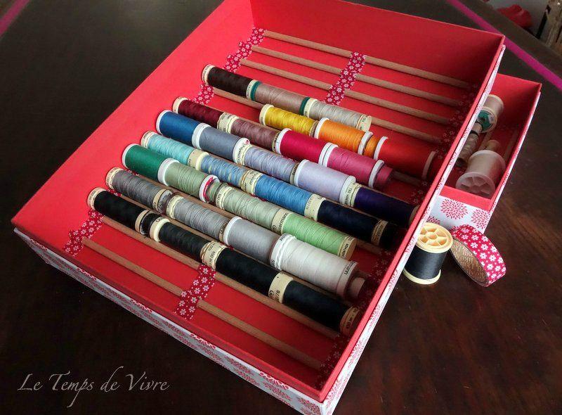 Am nager son atelier 2 un range bobines de tiroir tuto inside astuce couture pinterest - Astuce rangement atelier bricolage ...