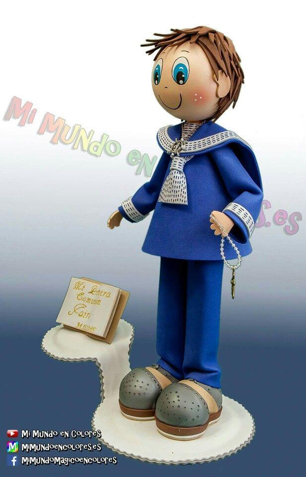 Fofucho de Comunión Personalizado con traje de Marinero!