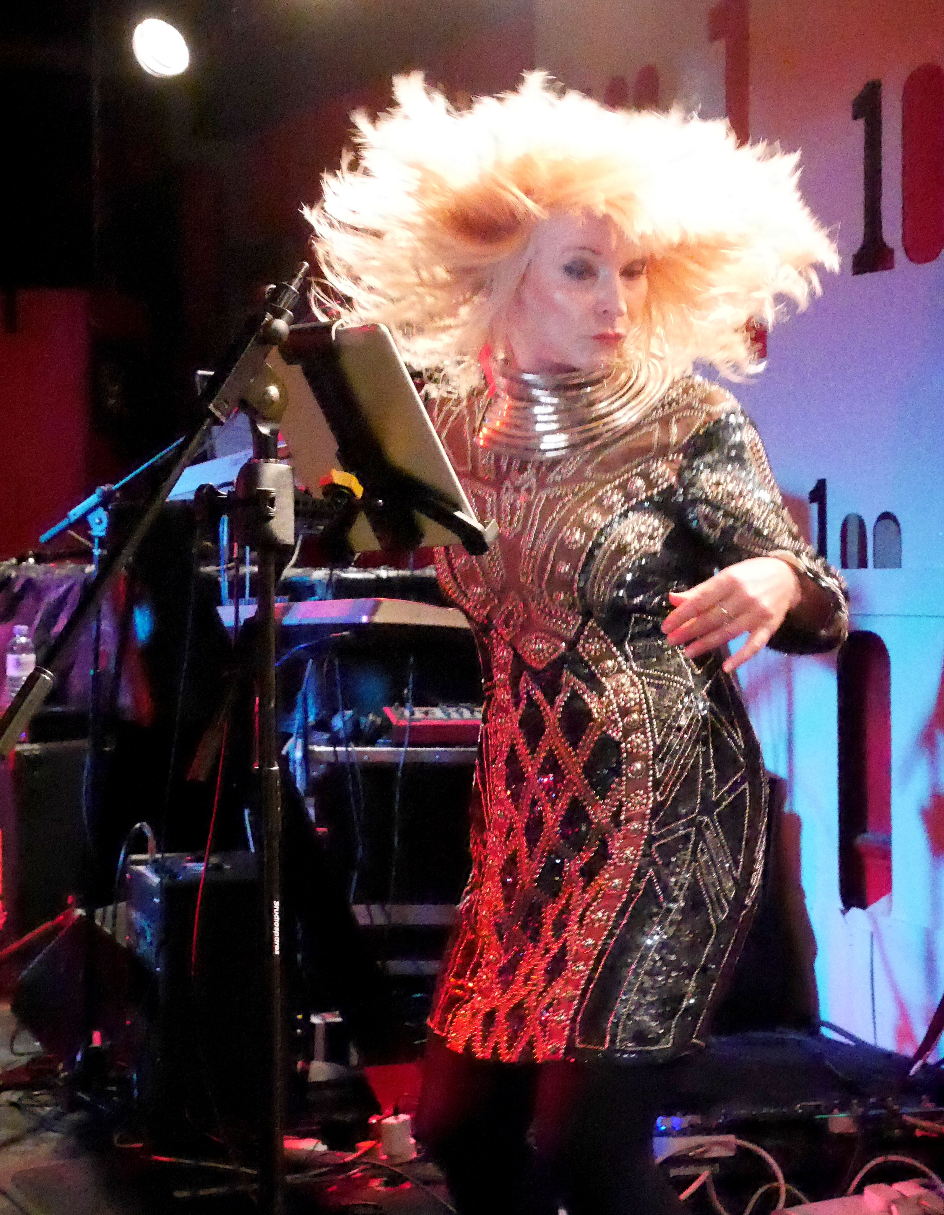 Toyah Willcox live at The 100 Club London, with THE HUMANS Telling Strange Tales Tour 18.4.2015 * * * Photo by © Damon King