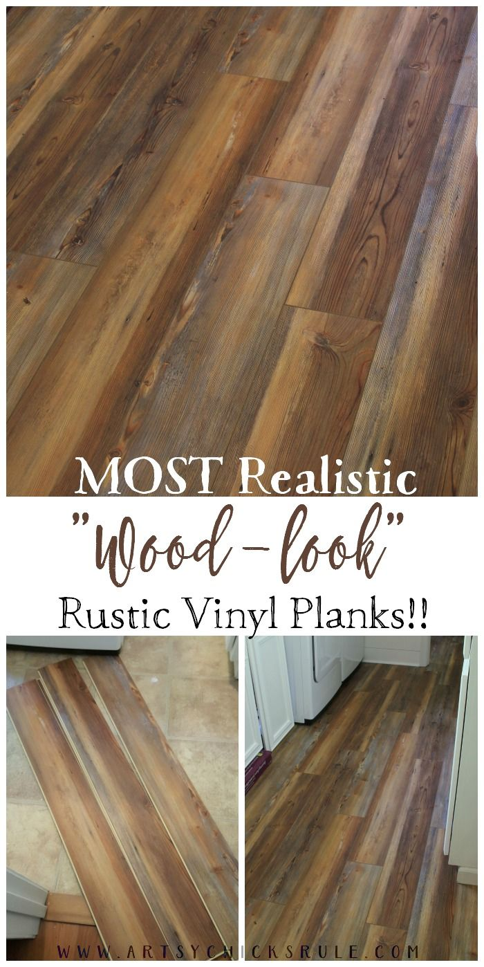 Farmhouse Vinyl Plank Flooring One Room Challenge Week 5 Vinyl Plank Flooring House Flooring Rustic Flooring