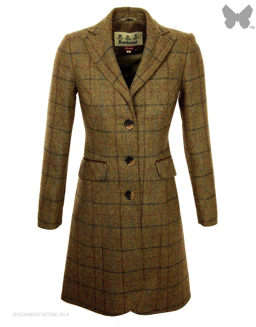 Barbour Ladies' Foxglove Tweed Coat – Olive LTA0064OL71   Country ...