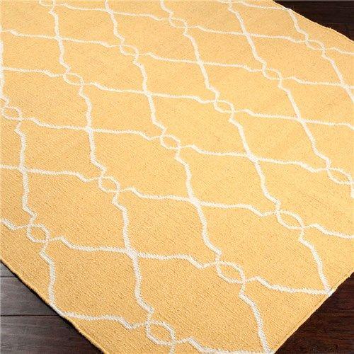 Jill Rosenwald Fallon Golden Yellow Hand Woven Rug Wool Area Rugs Handwoven Rugs Rugs