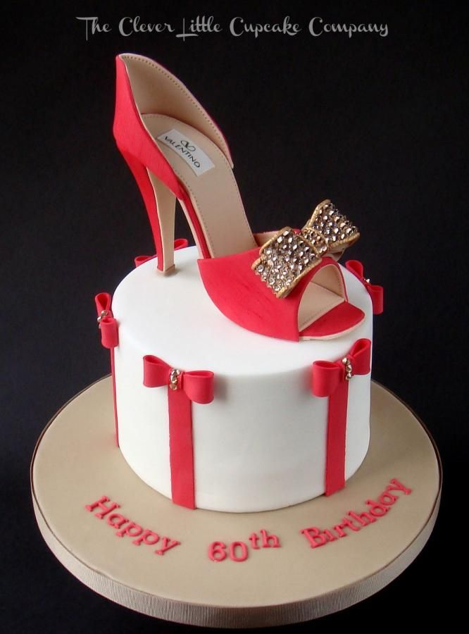 Red Valentino Shoe Cake Click | Cakes/Bachelorette | Pinterest | Red valentino shoes, Cake and ...