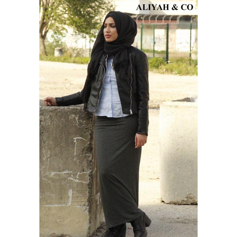 fdf06153e24eab Jupe Tube grise | muslim style | Jupe, Jupe tube et Jupe droite