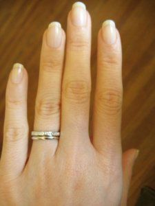 Please Show Me Eternity Plain Bands Together Eternity Band Engagement Ring Vintage Engagement Wedding Rings Minimal Wedding Band
