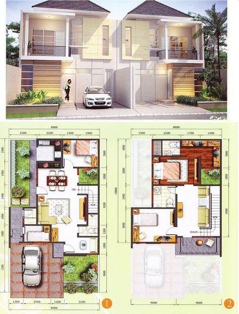 Gambar sketsa Rumah Minimalis 2 lantai 685—900