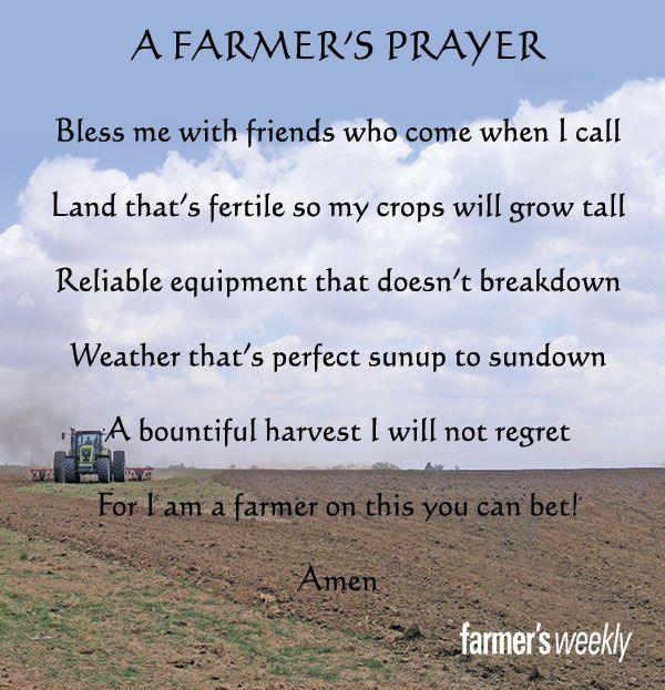 Farmers Day Quotes: A #farmers Prayer...