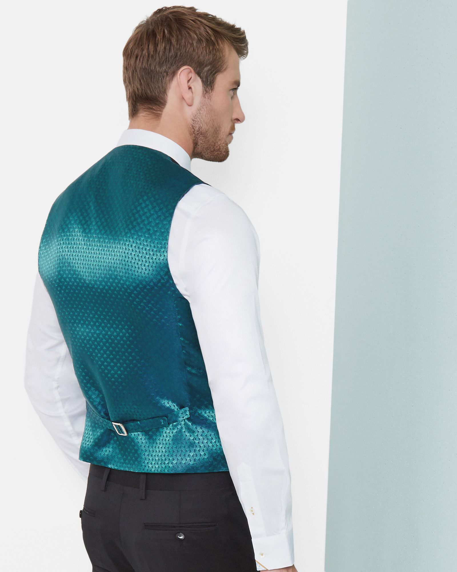 Debonair wool waistcoat - Black | Suits | Ted Baker | co at ...