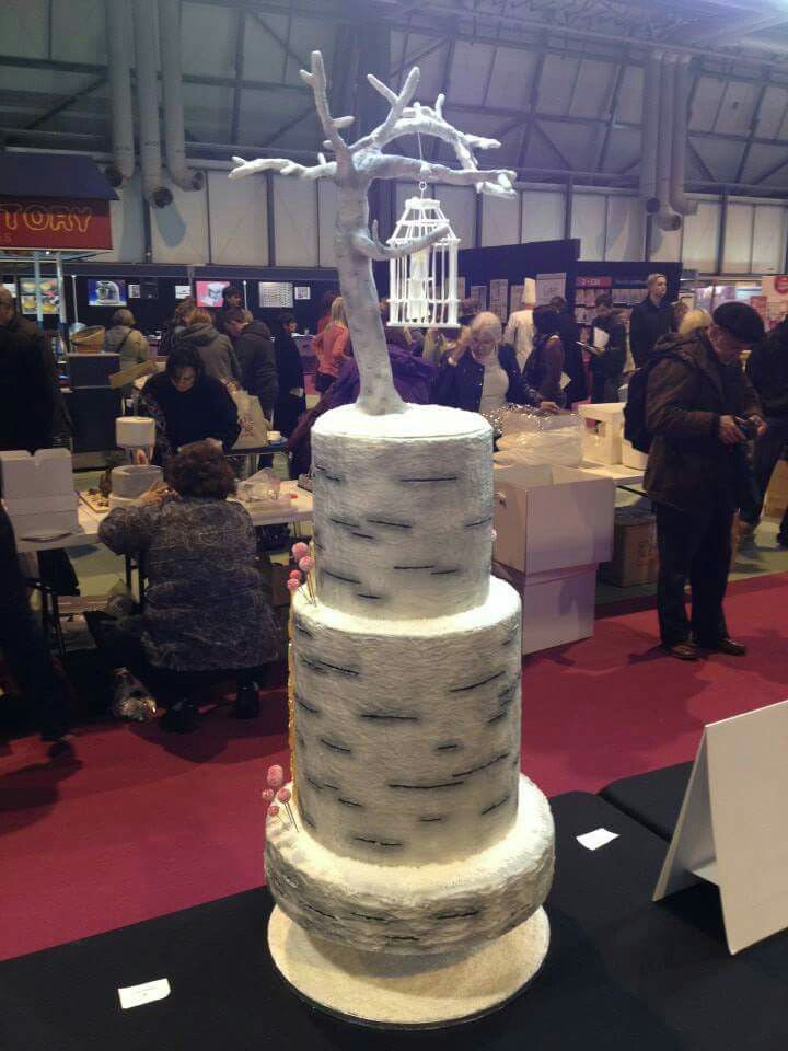 Cake International as part of the Paul Bradford team. The bride is encased in her bird cage.
