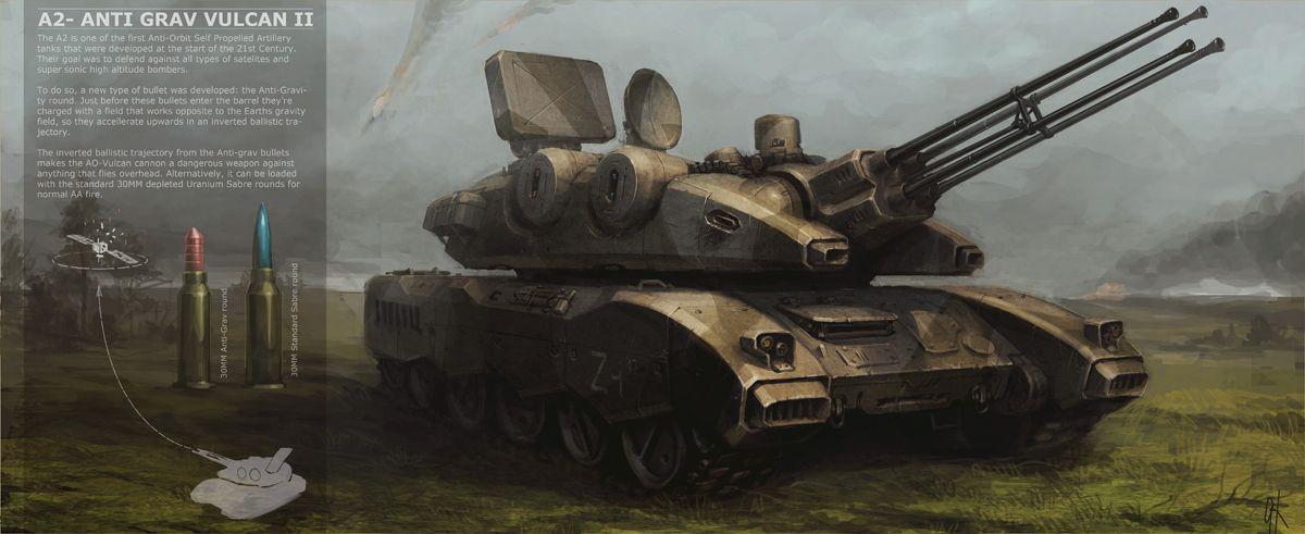 Present Cannons In Art An Anti Orbit Artillery Tank Guido Kuip 2009