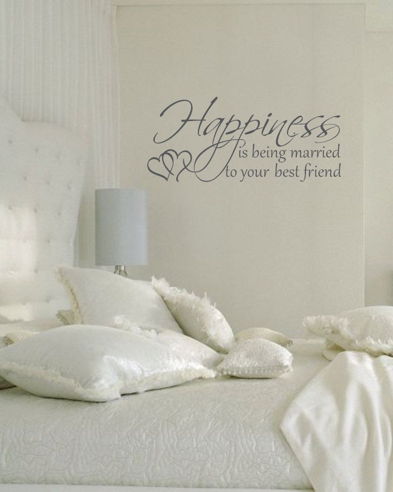 Happiness Is Being Married To Your Best Friend Couples Romantic Vinyl Wall  Decal. $28.00,