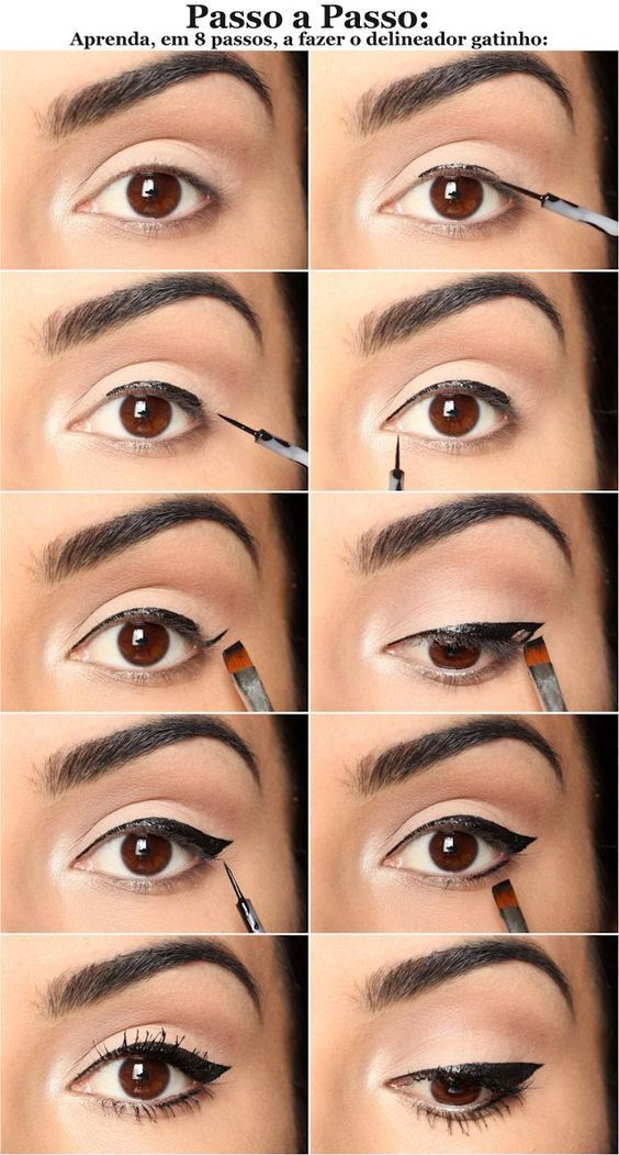 10 Einfache Schritt Für Schritt Eyeliner Tutorials Für Anfänger – Make Up Tutorials -  10 Einf