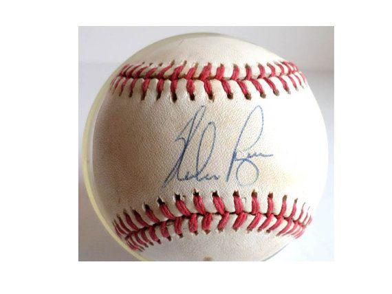 Nolan Ryan Baseball Autograph Vintage By Clearlyrustic On Etsy 50 00 Nolan Ryan Autographed Baseballs Autograph
