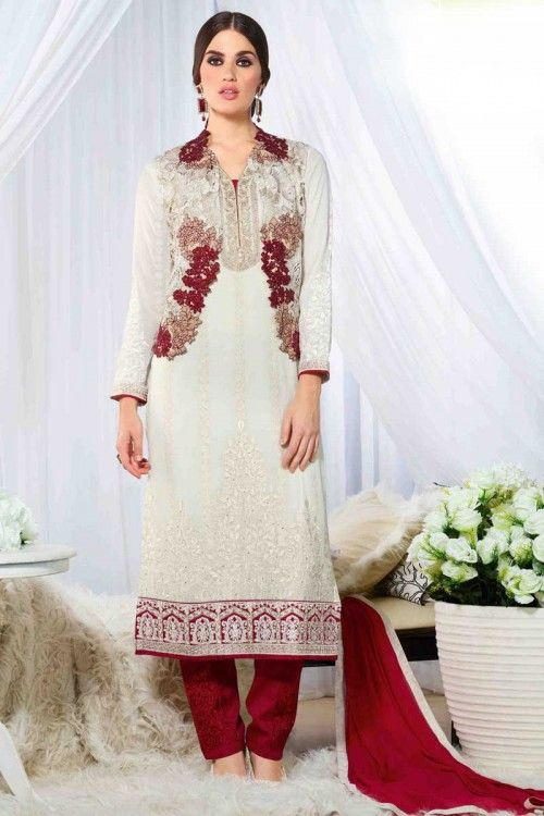 Wedding boutique, Trouser georgette cheap asian prom suits, Cream ...