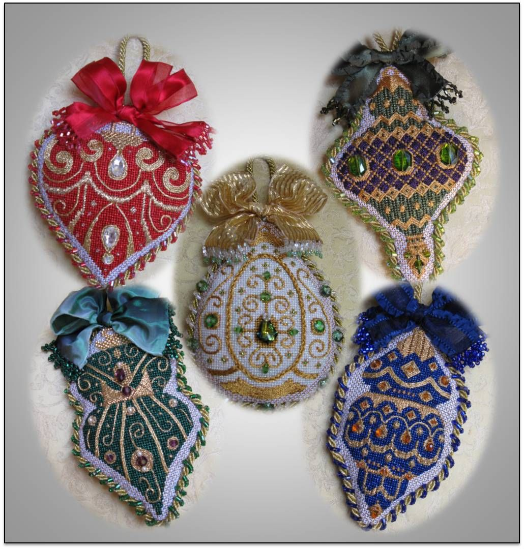 A needlepoint ornament club from The Needle House, by A Collection of Designs, I think.
