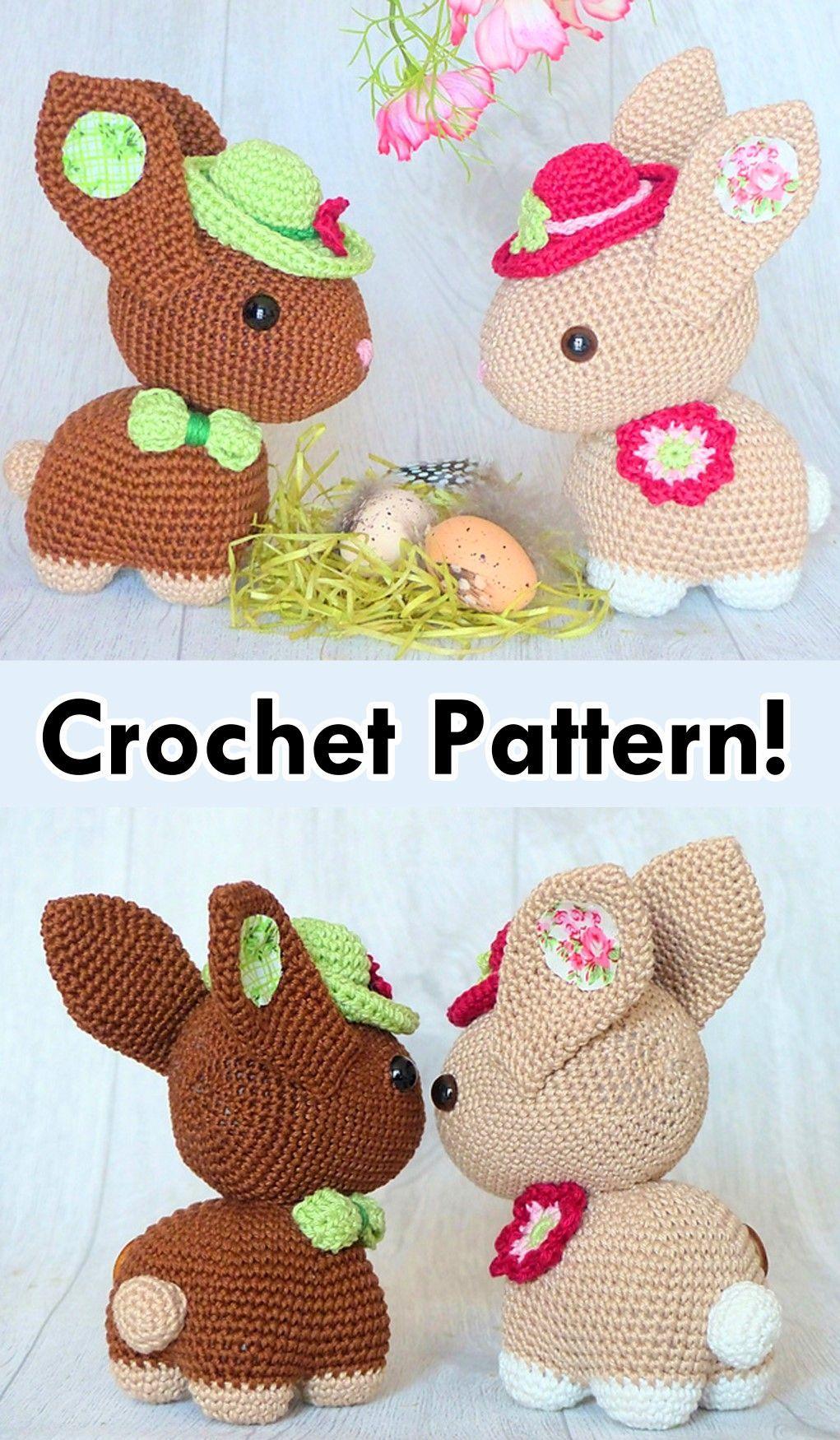 Crochet Eggster Bunny | Rękodzieło na wielkanoc, Wzory szydełkowe ... | 1750x1021