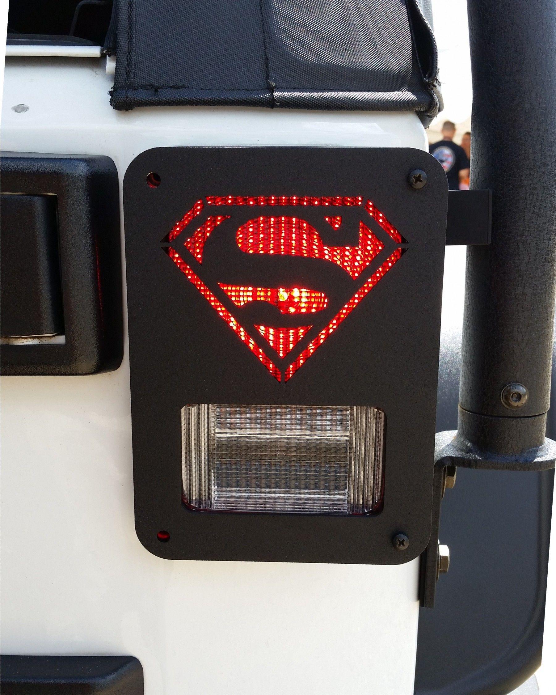 Jeep Superman Tail Light Guard Jeep Accessories Jeep Wrangler Jeep Wrangler Jk Jeep Accessories