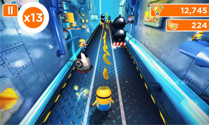 Racing with the minions