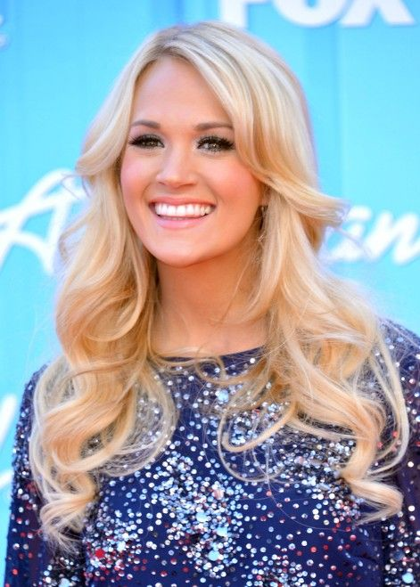 Carrie Underwood Long Hairstyle Curls For Thin Hair Blondes Have