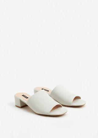 Zapatos España Mujer tacón MANGO Mule de 5W6Hnaqx1