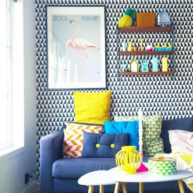 Salones decorados con papel pintado | Decoración Hogar, Ideas y ...