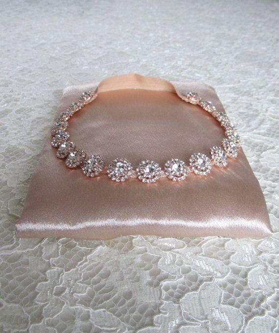 super popular dad01 03b20 Rose Gold Crystal Rhinestone Bridal Garter,Wedding Garter ...