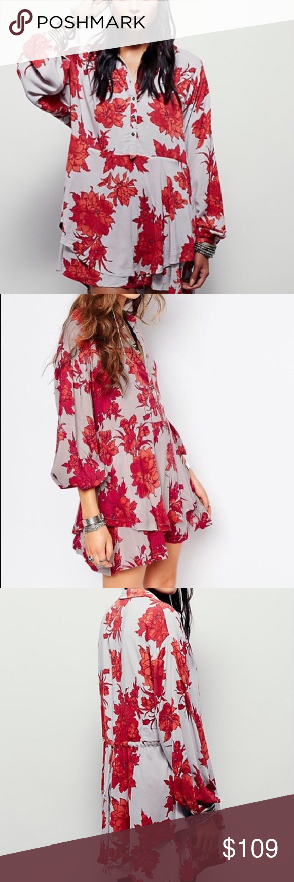 🌷FINAL MARKDOWN!🌷Free People Printed Tunic Dress NWT. Didn't like the way it fit me, so decided to sell it. My loss is your gain. Free People Dresses