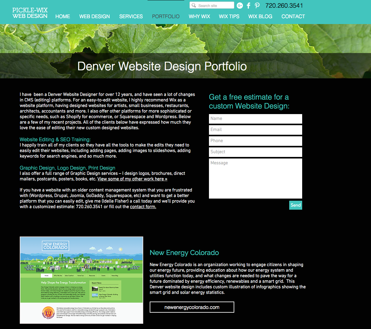 Check Out Our Denver Website Design Portfolio At Http Www Picklewix Com Portfolio Portfolio Web Design Wix Web Design Portfolio Website Design