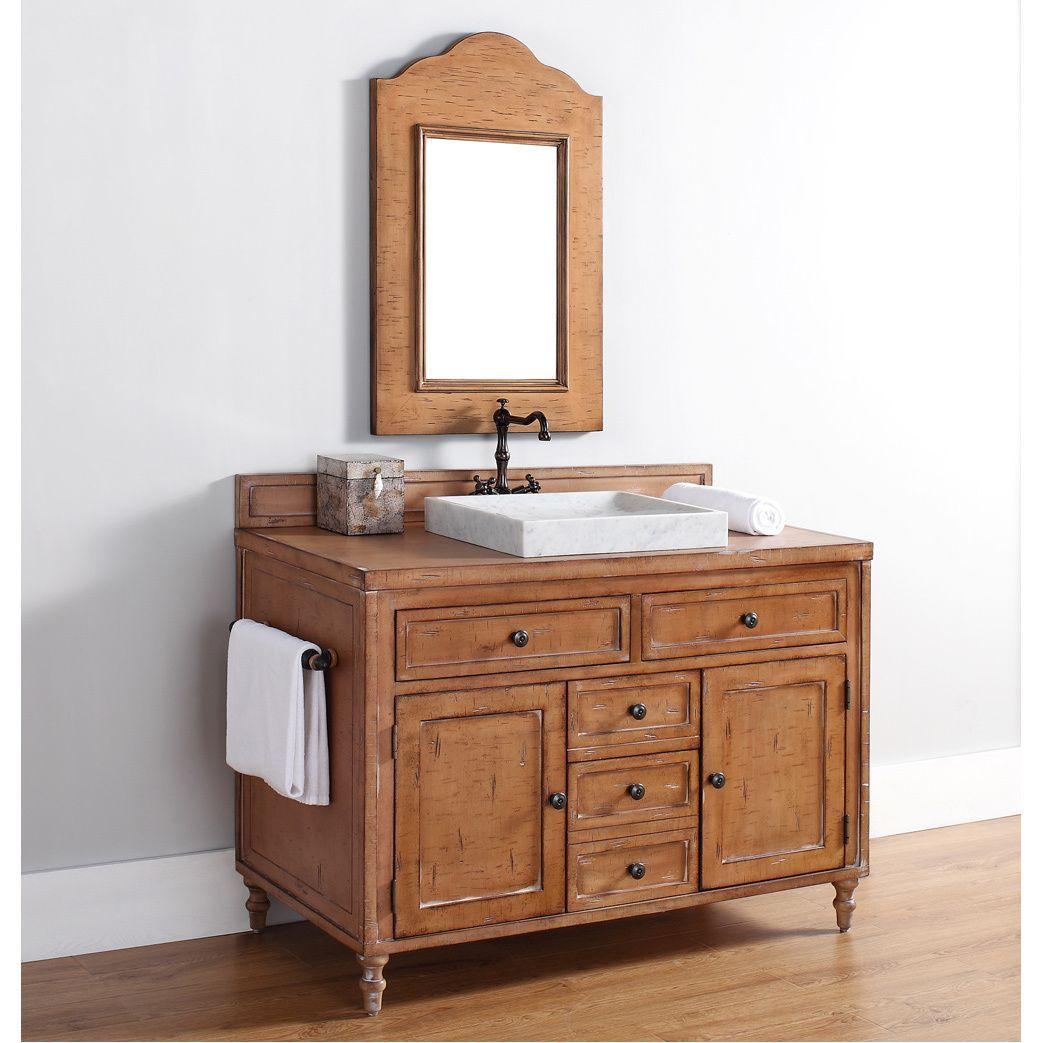 Copper Cove 48 Single Vanity Cabinet Copper Cover Bathroom