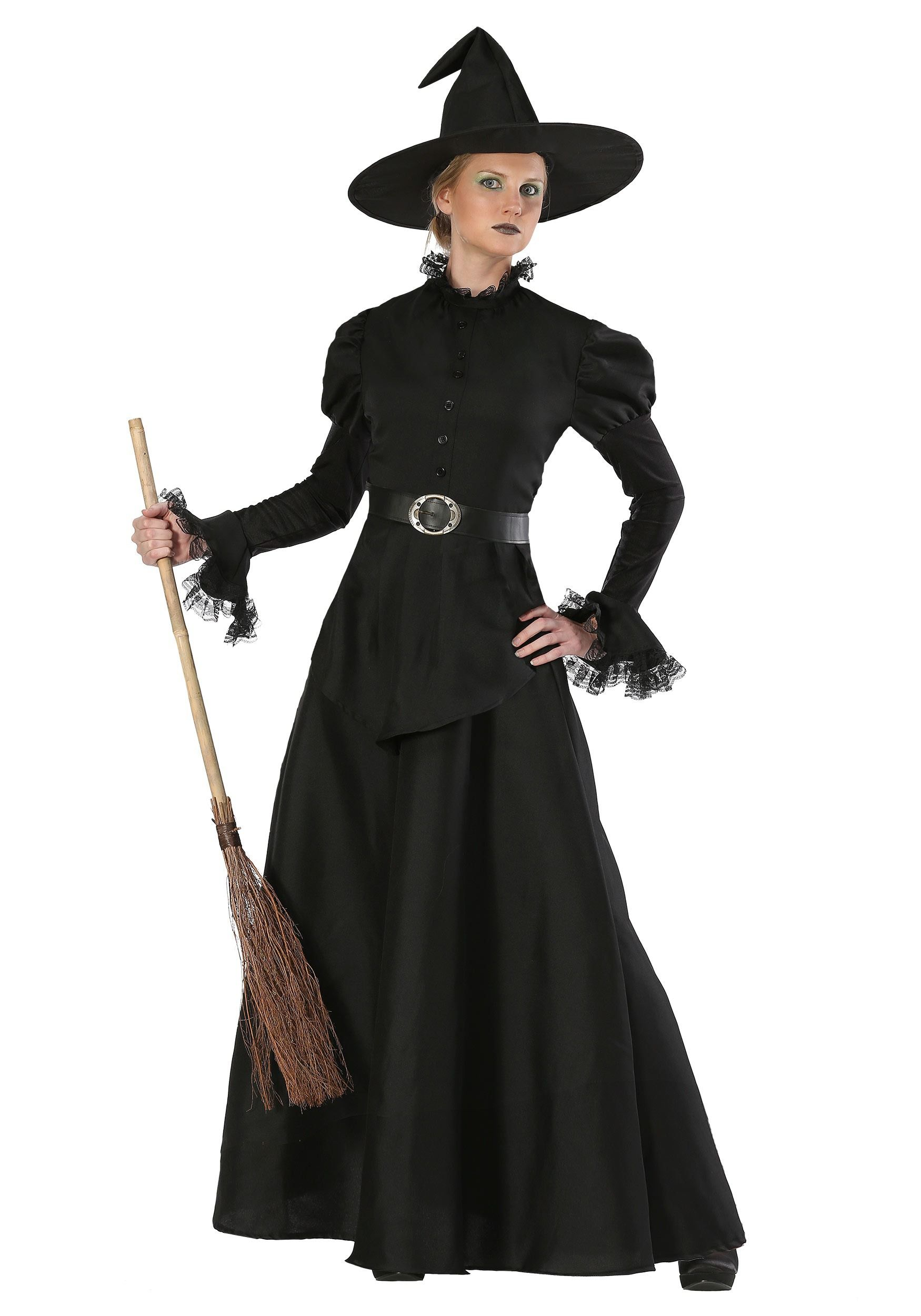 Classic black witch costume for women witches costumes