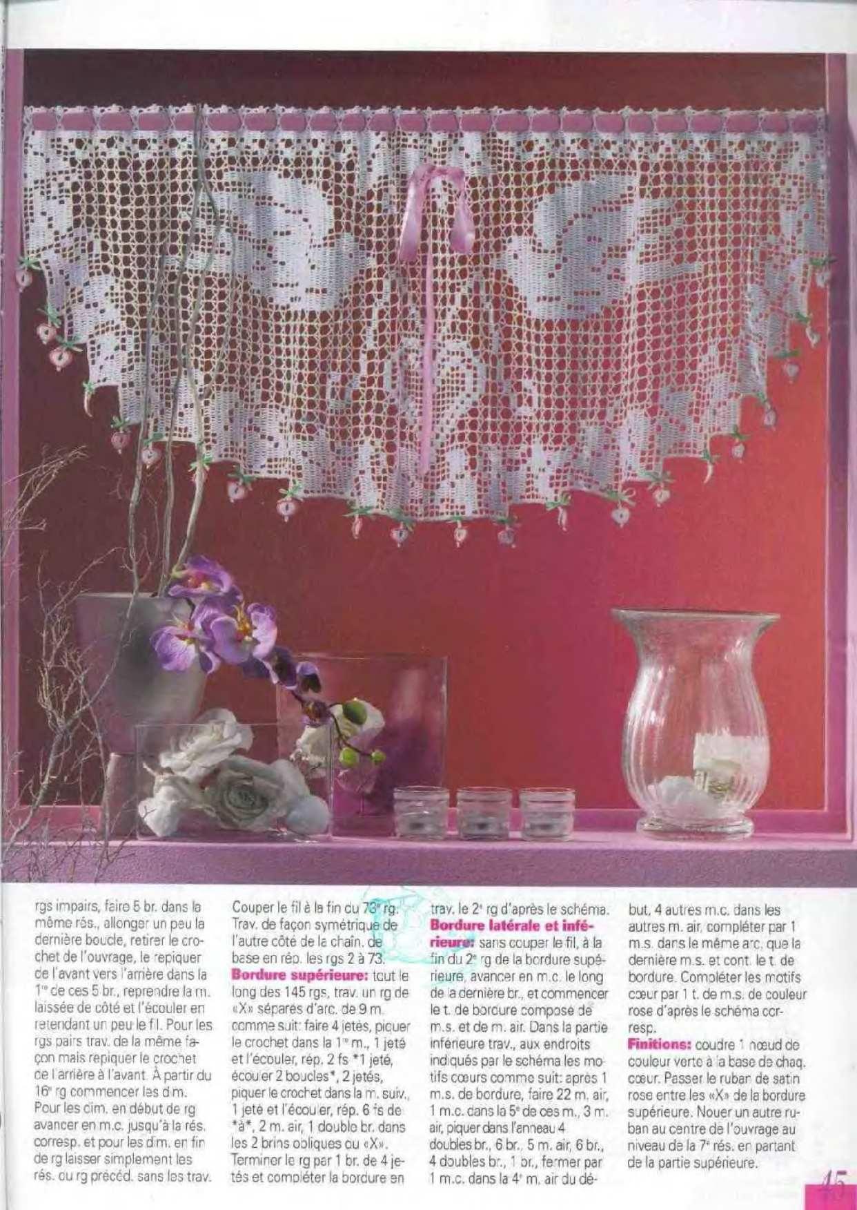 Häkeln & Filethäkeln Gardinen / crochet curtain | υπέροχη δαντελα ...
