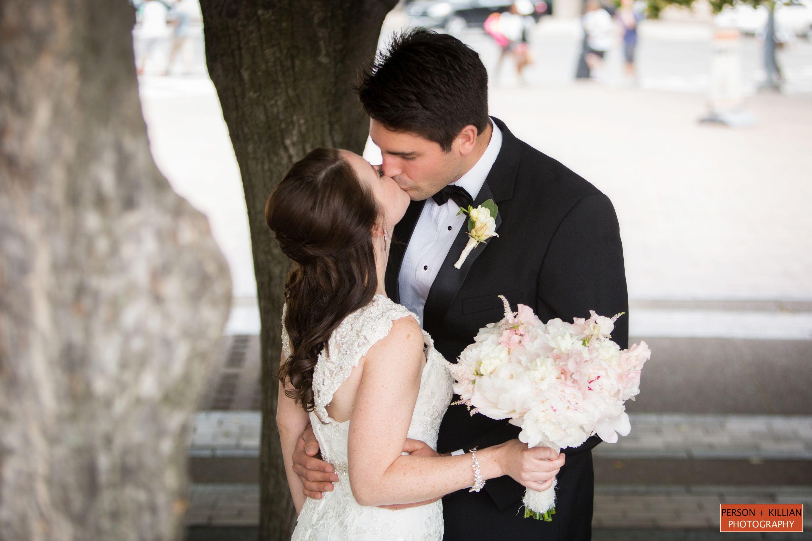 Downtown boston summertime weddings christian science center plaza