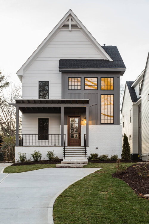 New Construction In Raleigh Nc Design Your Home Hayes Barton Homes Inc Modern Farmhouse Exterior Exterior Design Traditional Exterior