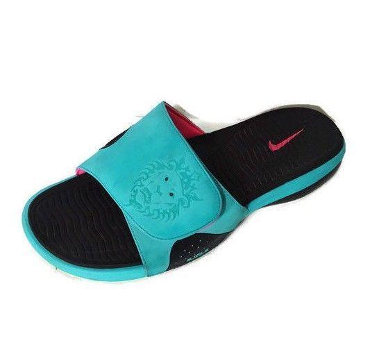 new style 9f561 27641 Nike Air Max LeBron James Slides Sandal Men Size 10 Blue Pink Slip-on  487332-400  Nike  Slides