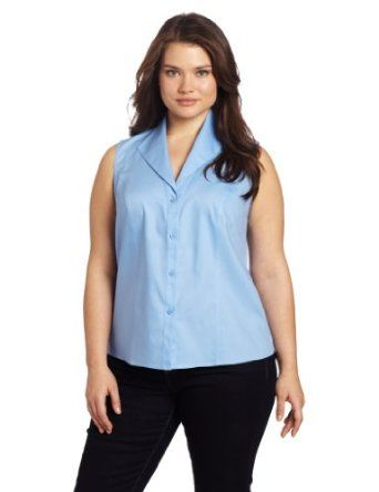 4524e5769b7 Jones New York Women s Plus-Size Sleeveless Easy Care Blouse