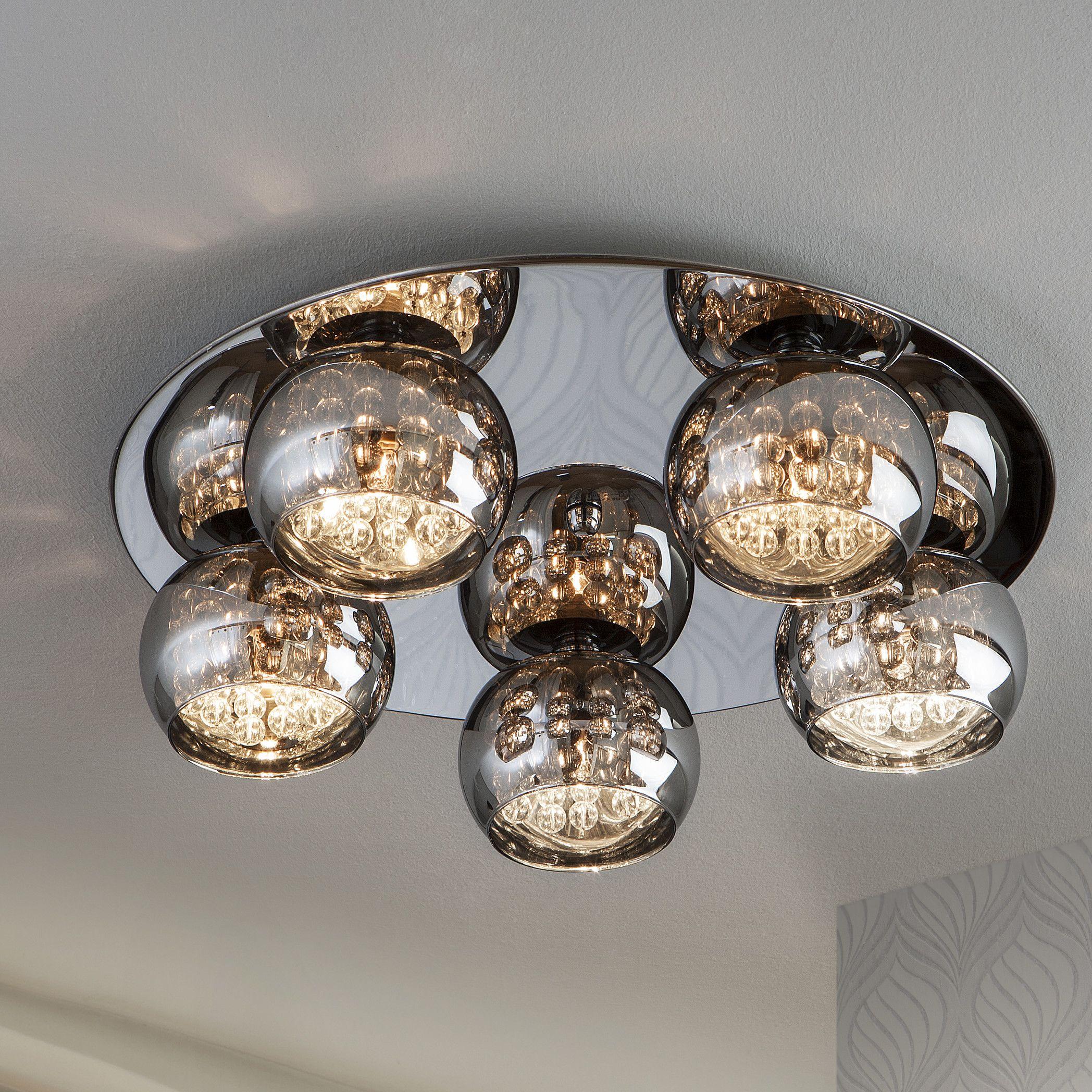Schuller arian 5 light semi flush ceiling light reviews wayfair