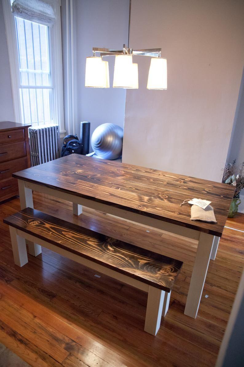 6 solid wood farmhouse table farmhouse dining table