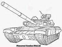 Mobil Tank Dengan Gambar Halaman Mewarnai Warna Tank