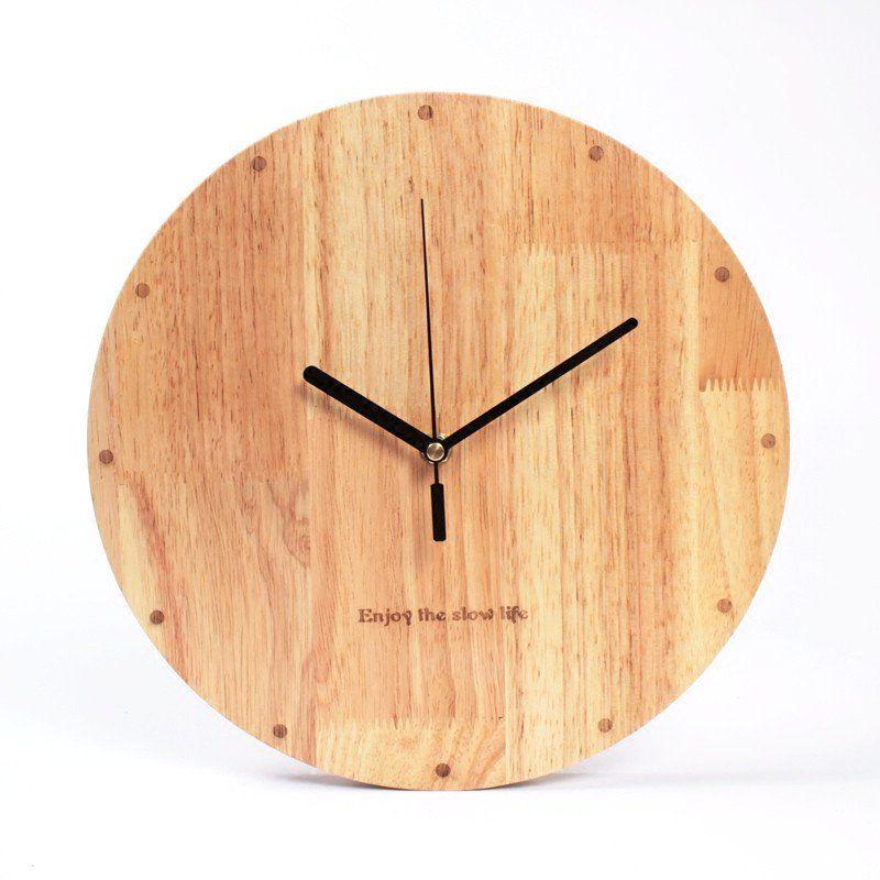 Abies Of Denmark Bamboo Wall Clock Derevyannye Chasy Nastennye Chasy Chasy