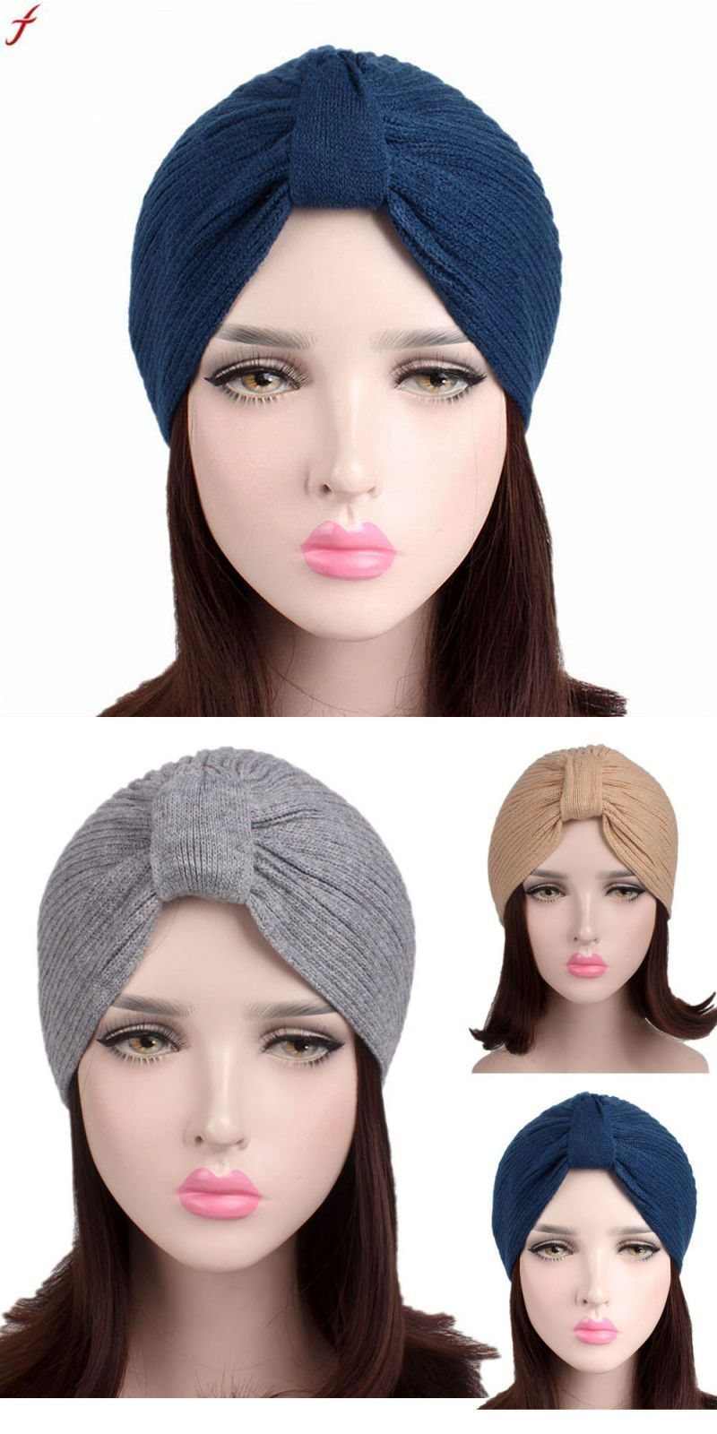 d5e5528843b Autumn winter knitted wool hats for women ladies 2018 retro hip-hop  skullies beanie warm hat turban caps bonnet femme  acrylic  adult  women   casual  solid ...