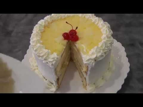 How To Make  Pineapple Chiffon Cake With  Whipped Cream Icing Recipe